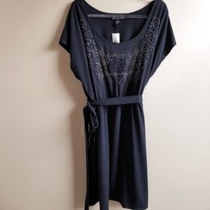Lane Bryant Black Beaded Knit Dress, 26/28